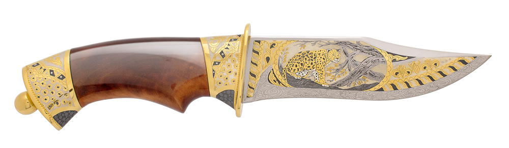 "Knife ""African Great five. The leopard"""