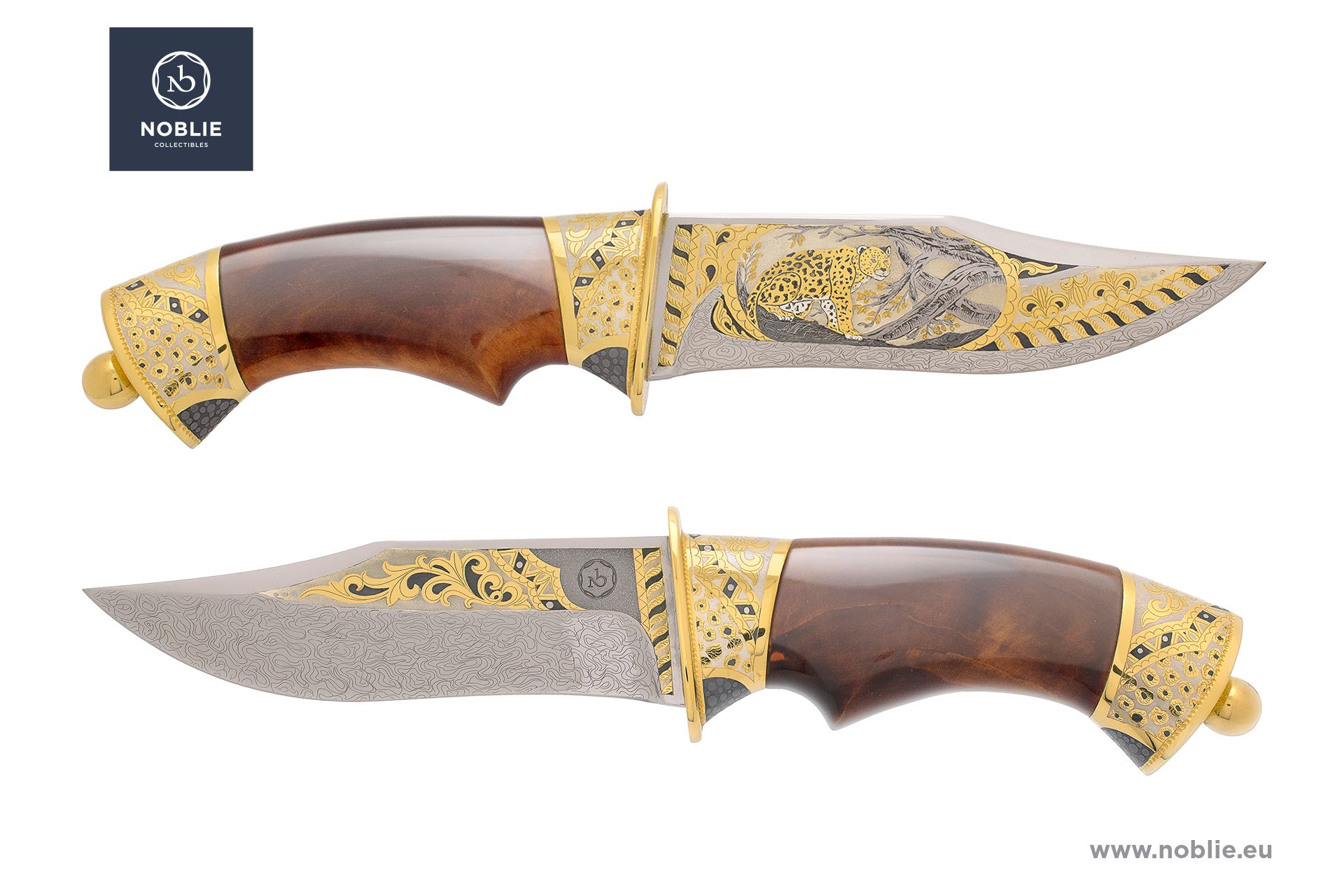 "damascus blade ""African Great five. The leopard"""