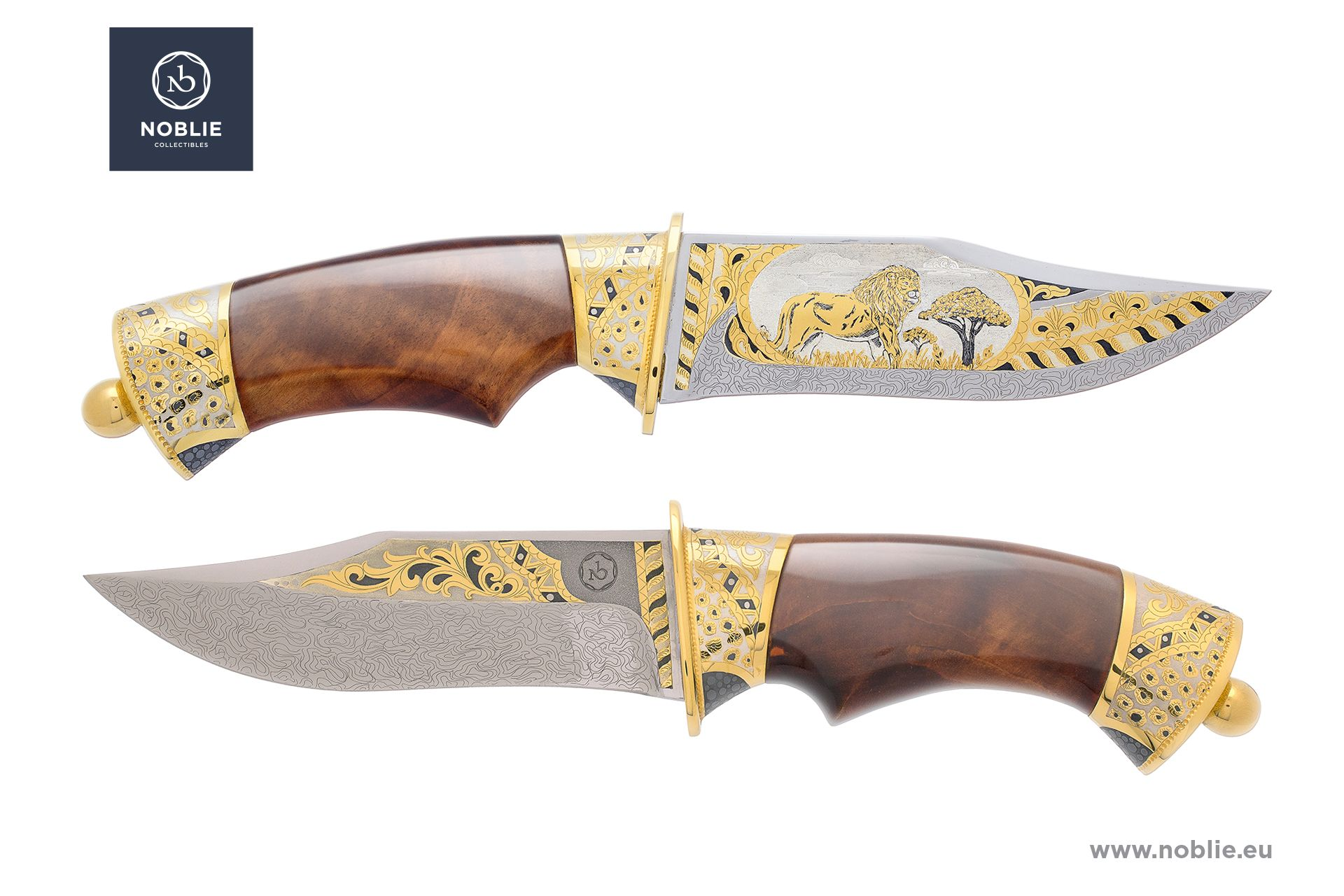 "damascus blade ""African Great five. The lion"""