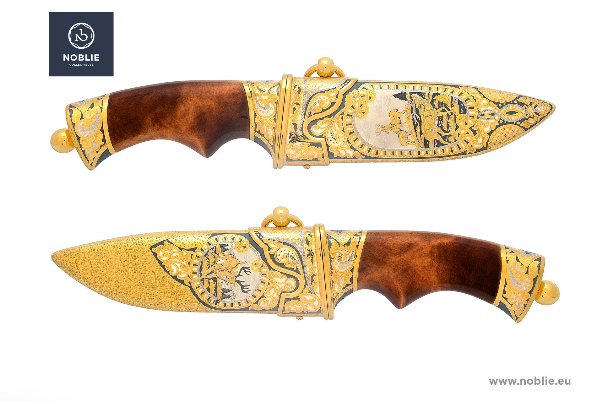 """engraved knife """"Reindeers"""""""