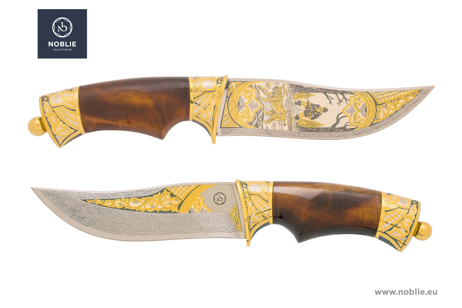 "Engraved knife ""Lynx hunting"""