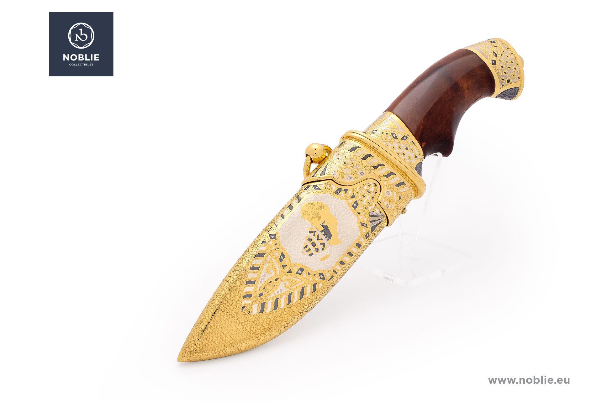 "handmade art knife ""African Great five. The leopard"""