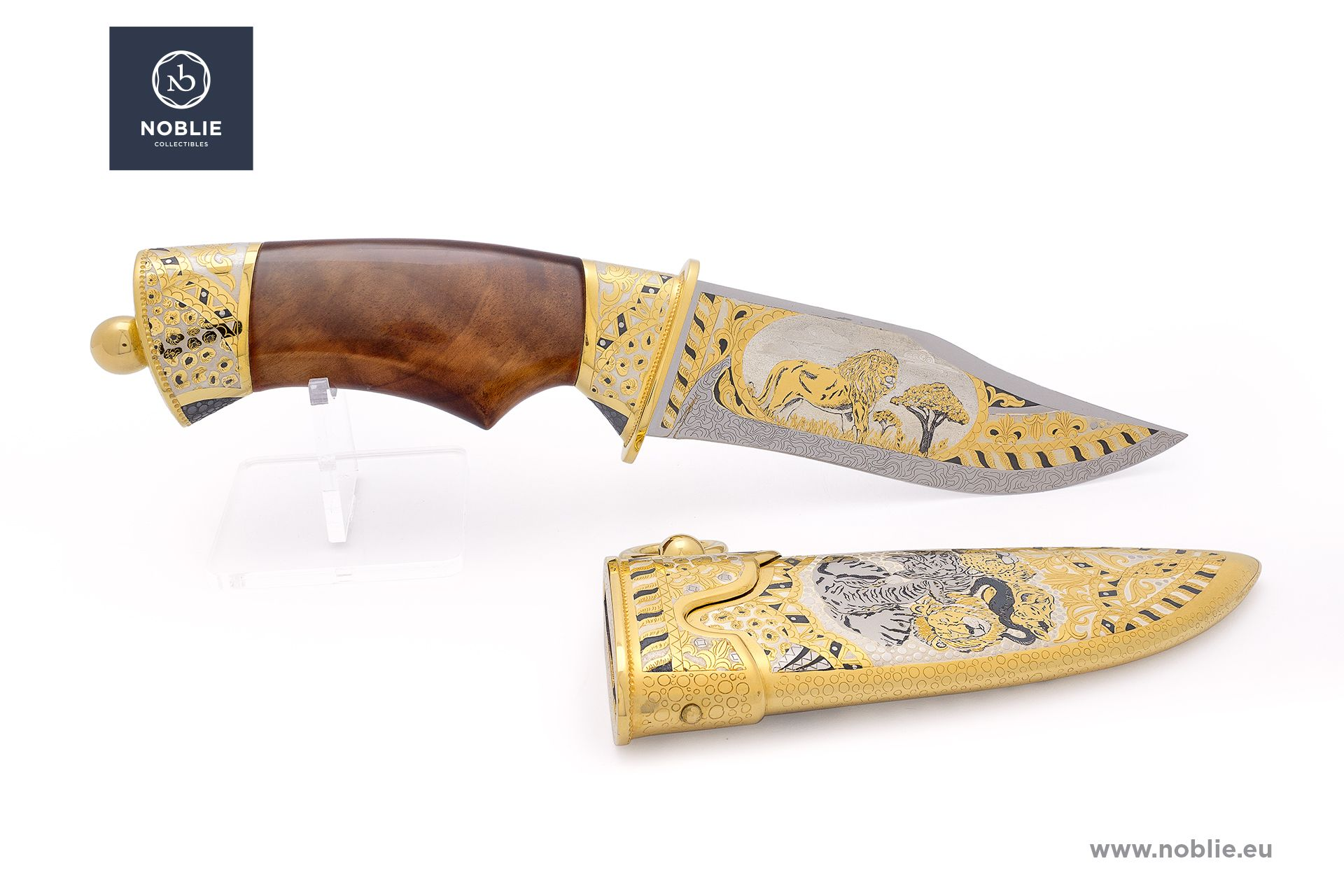 "engraved knife ""African Great five. The lion"""
