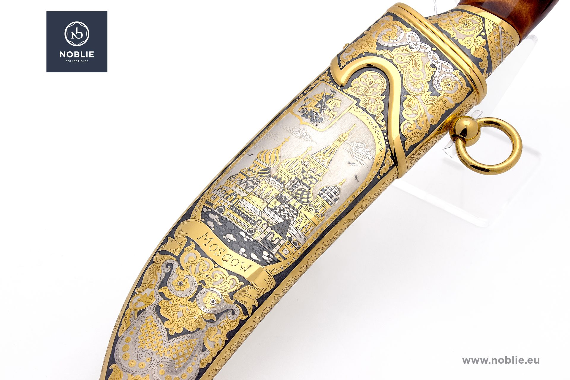 """damascus hunting knife """"Moscow"""""""