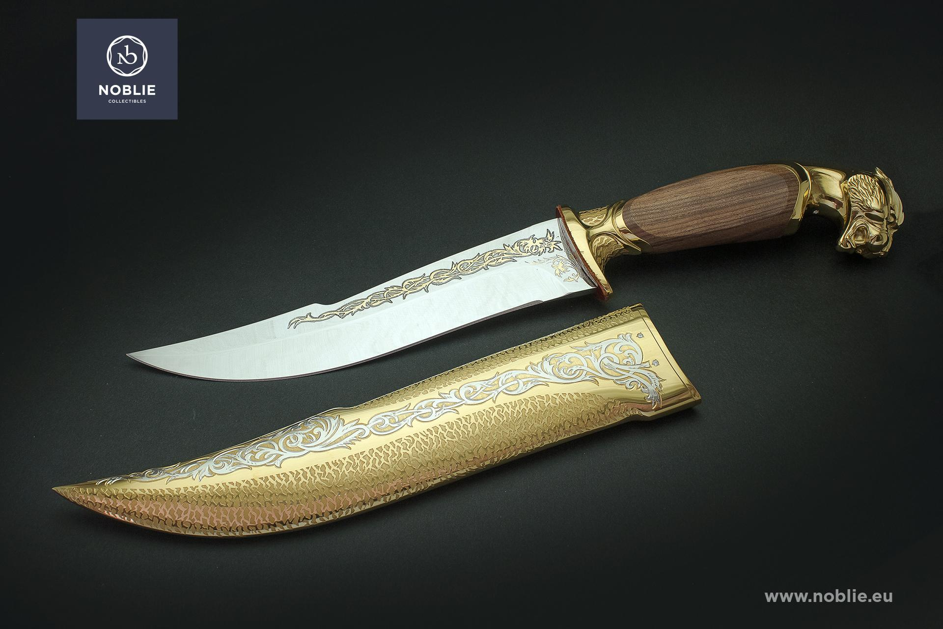 "custom hunting knife ""Raw strength. The Jaguar"""