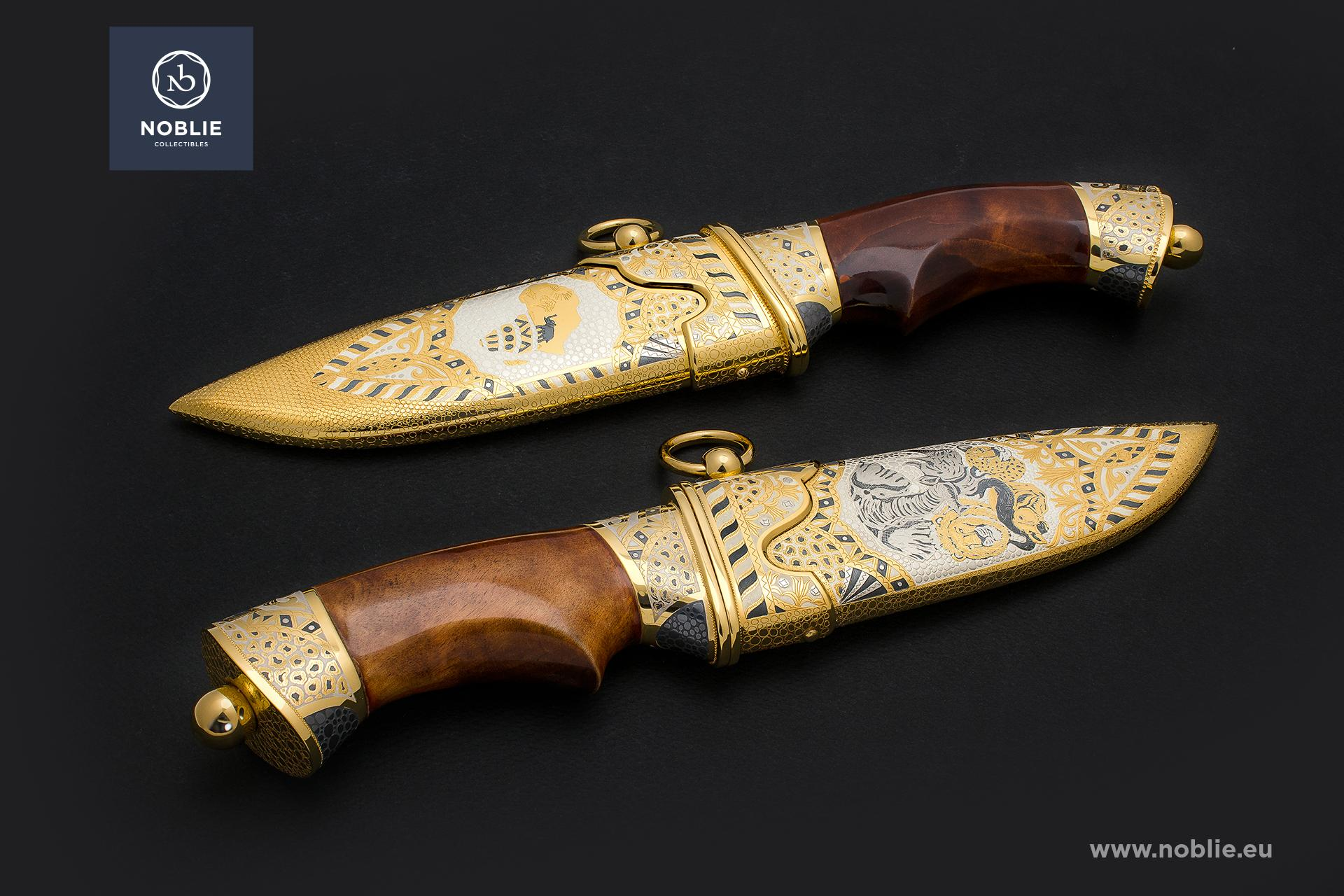 "handmade hunting knife ""African Great five. The rhino"""