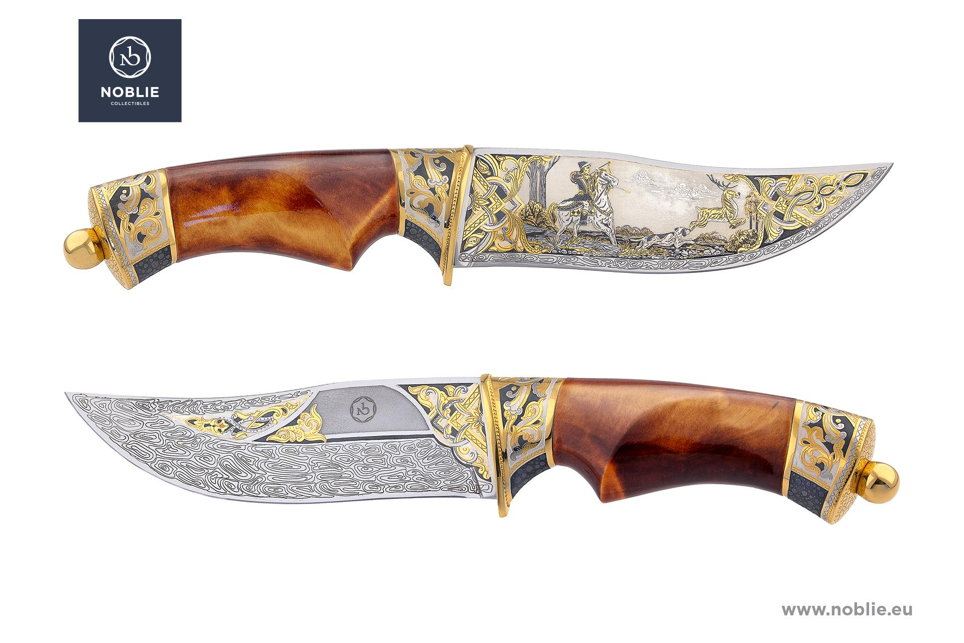 "art knife ""Medieval hunting of deer"""