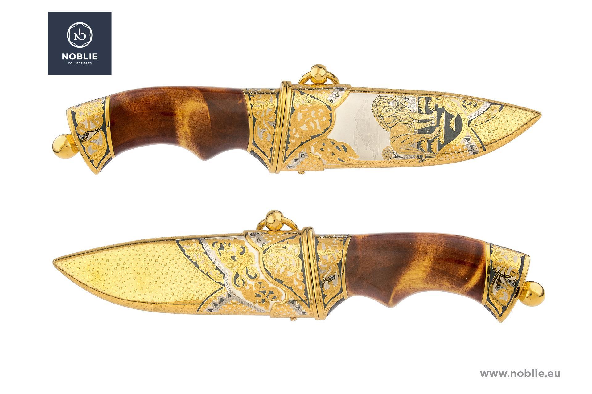 """handmade art knife """"The lion"""""""