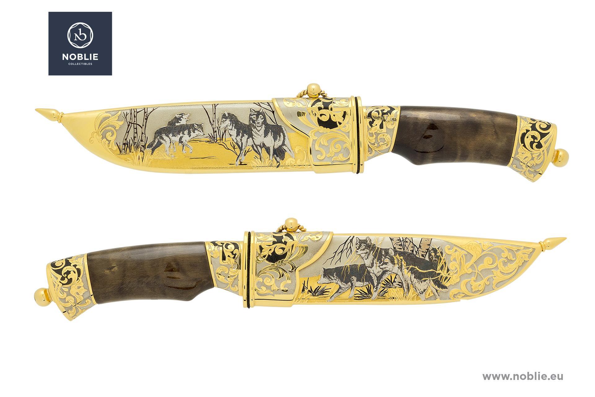 "handmade knife ""Wolf pack"""