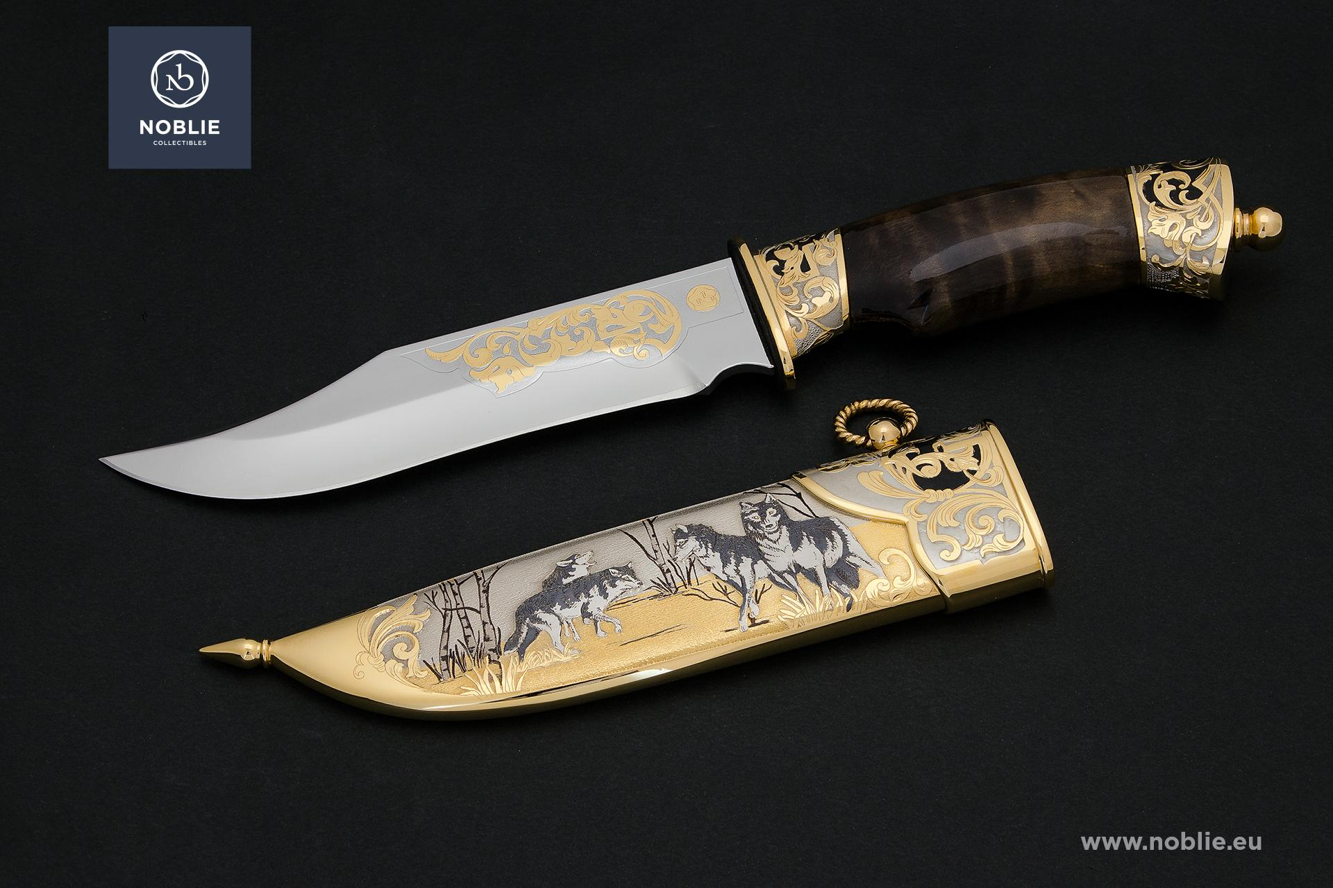"engraved knife ""Wolf pack"""