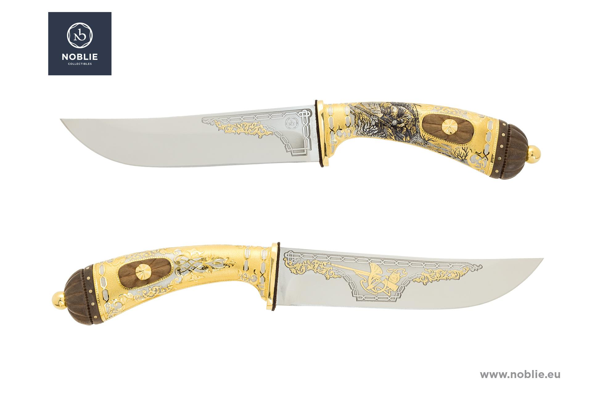 "handmade custom knife ""Watch out. Deer hunting"""