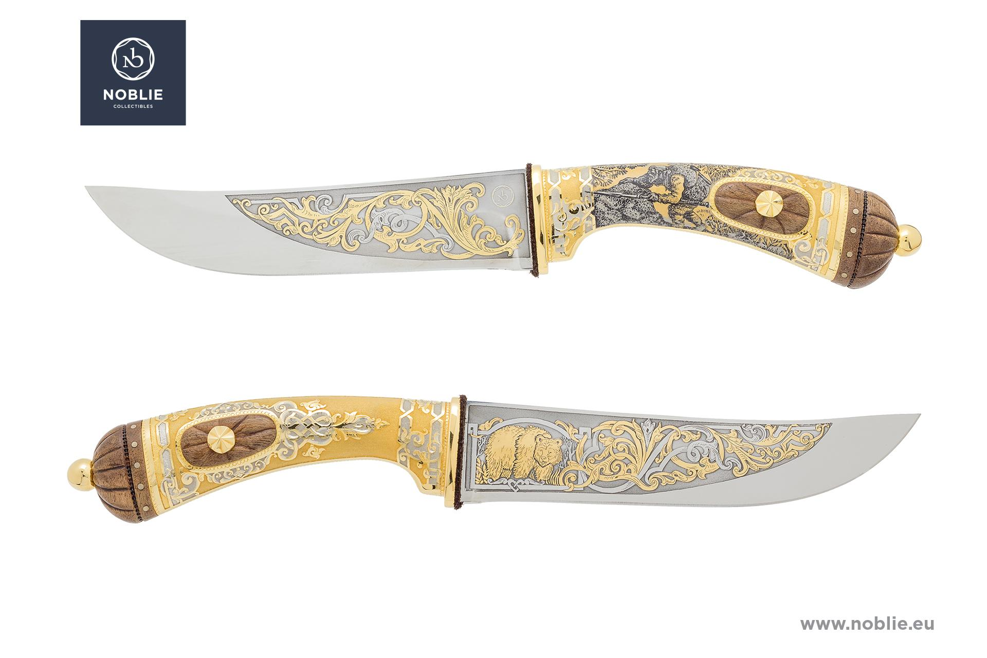 "hunting knife ""Worthy rival. Bear hunting"""