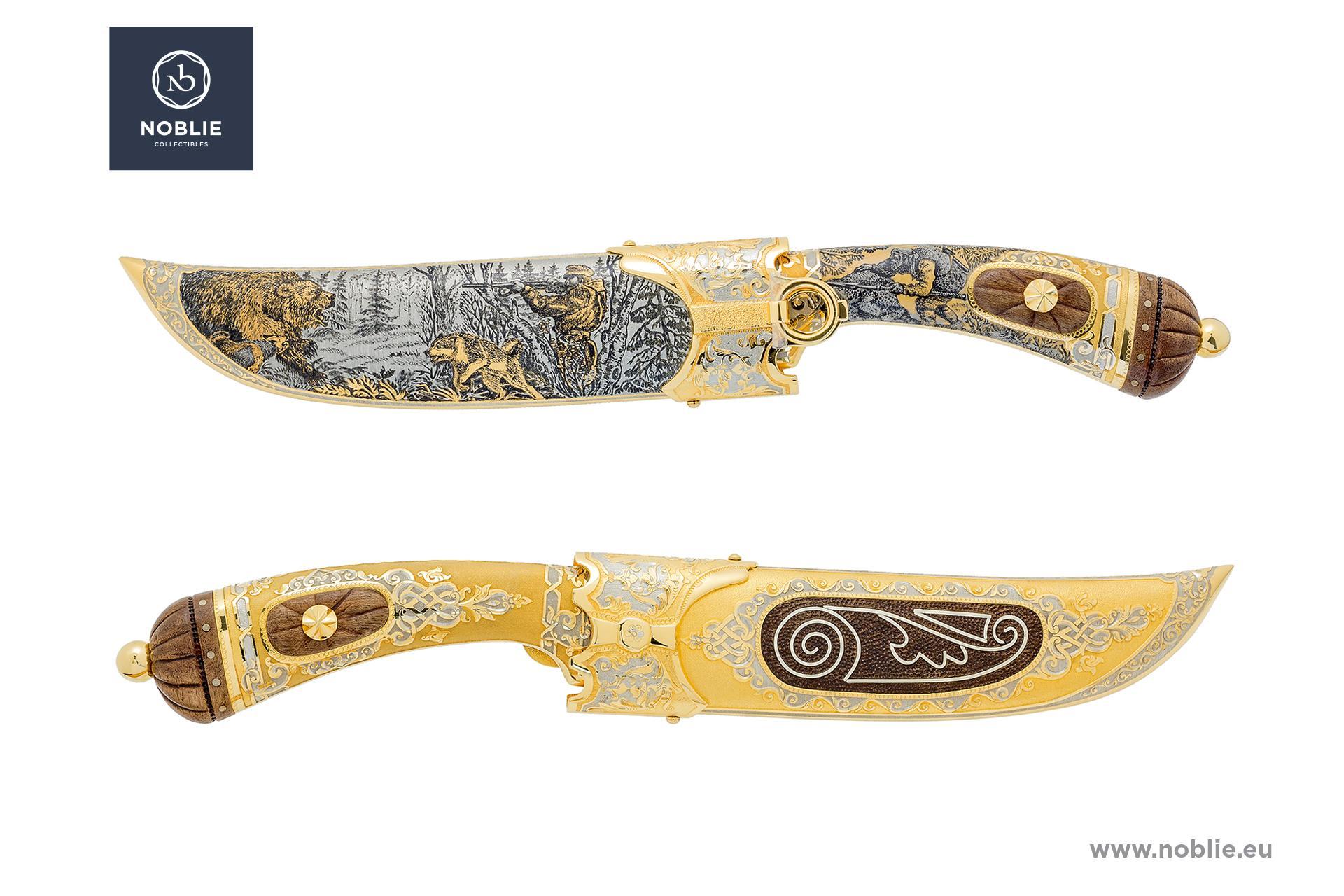 "handmade knife ""Worthy rival. Bear hunting"""
