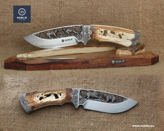 "Knife collection ""Art of engraving"" by NOBLIE"