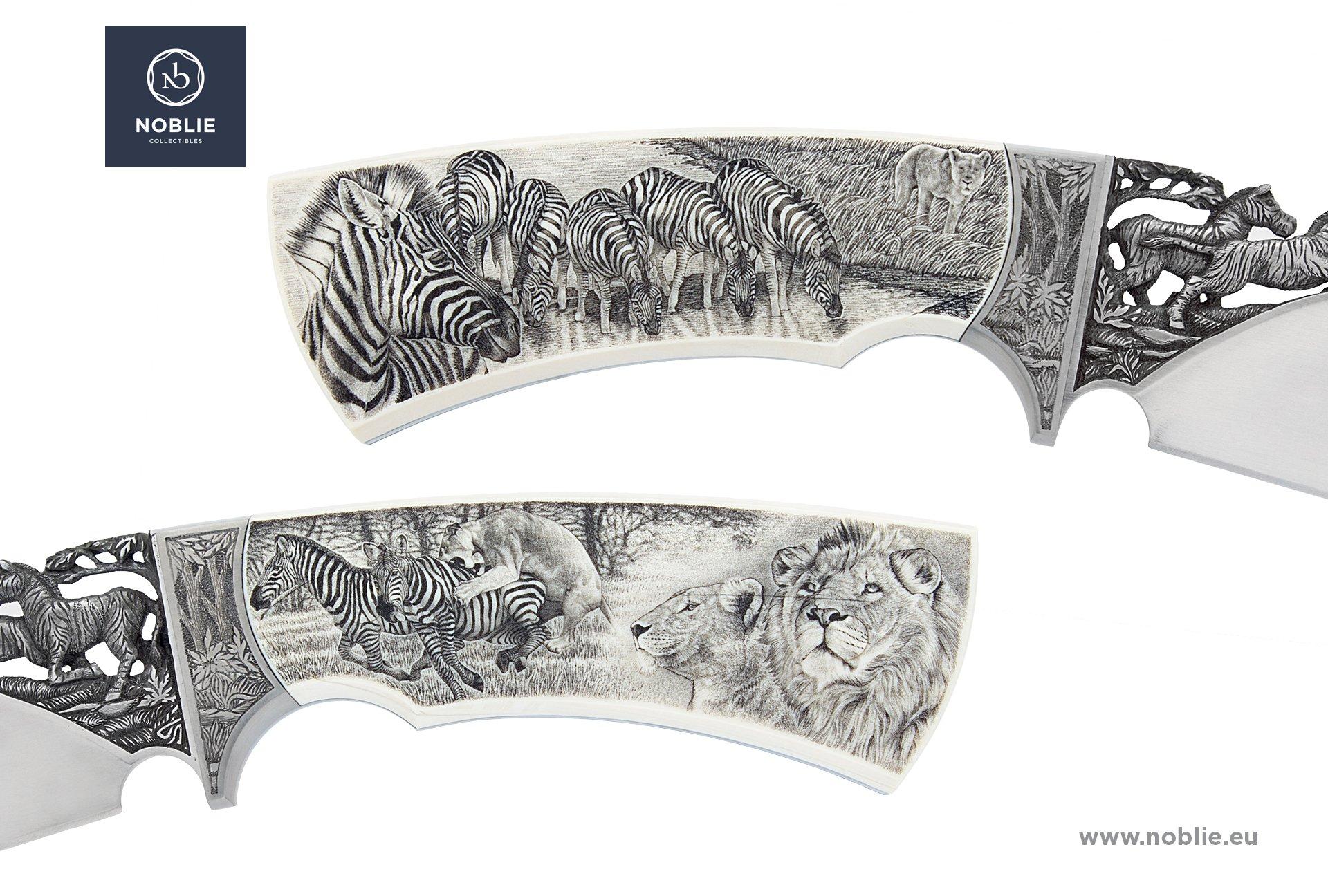 handmade art knife composition