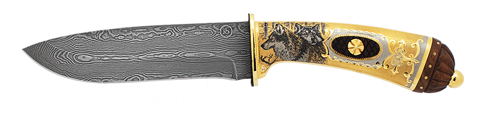 "knife ""Canis lupus. Wolf"""