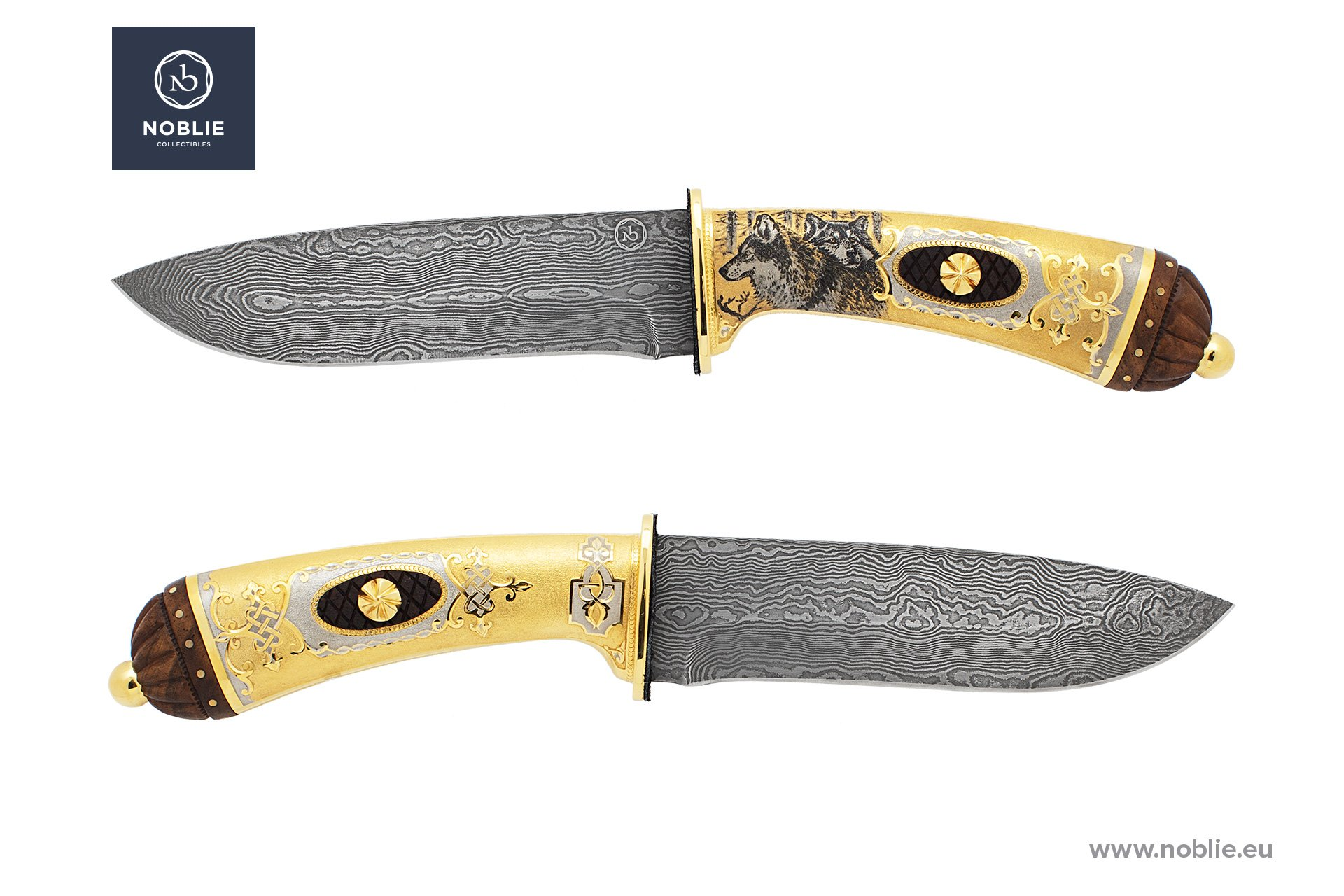 "engraved knife ""Canis lupus. Wolf"""