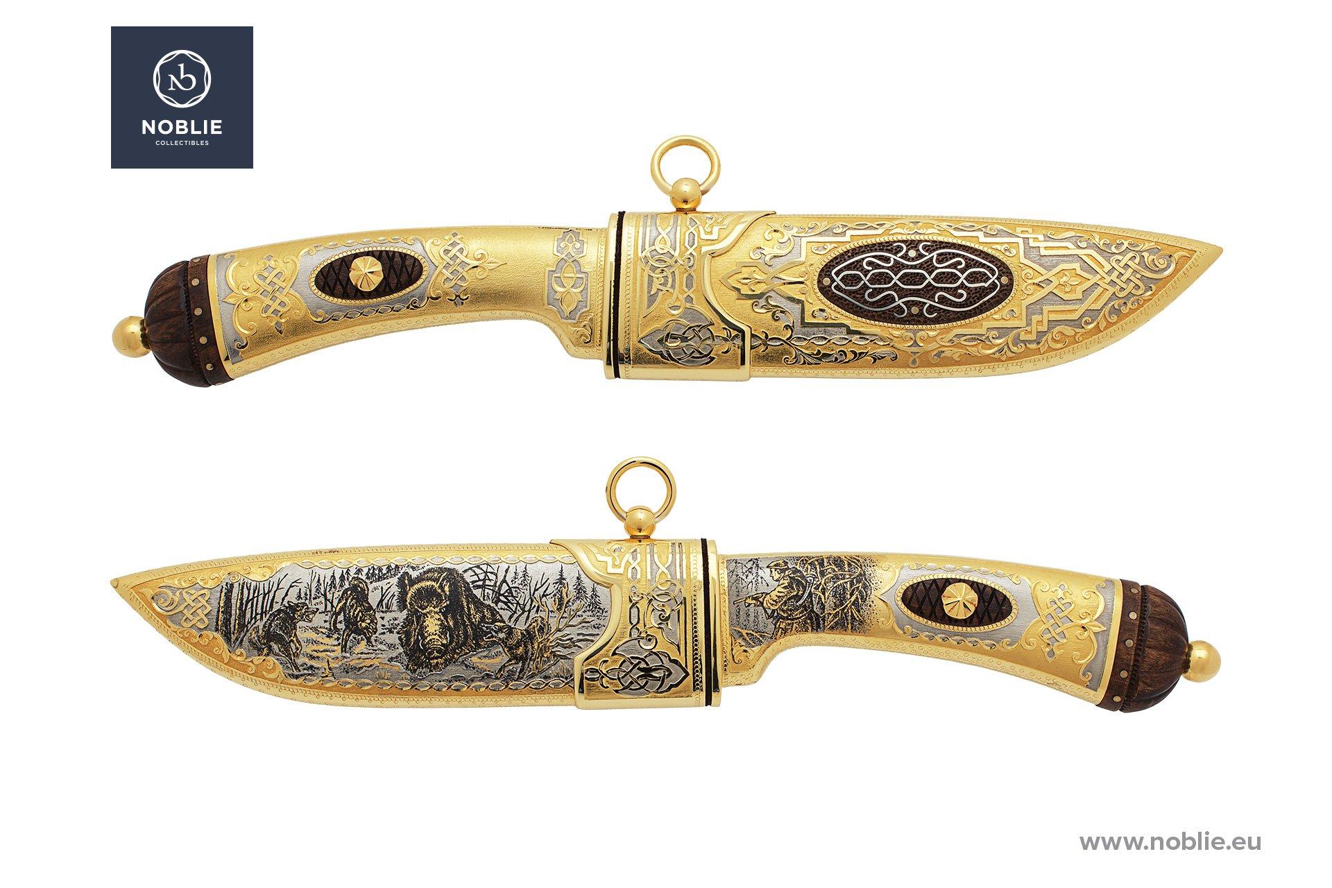 """handmade art knife """"Sus Scrofa. Wild boar"""""""
