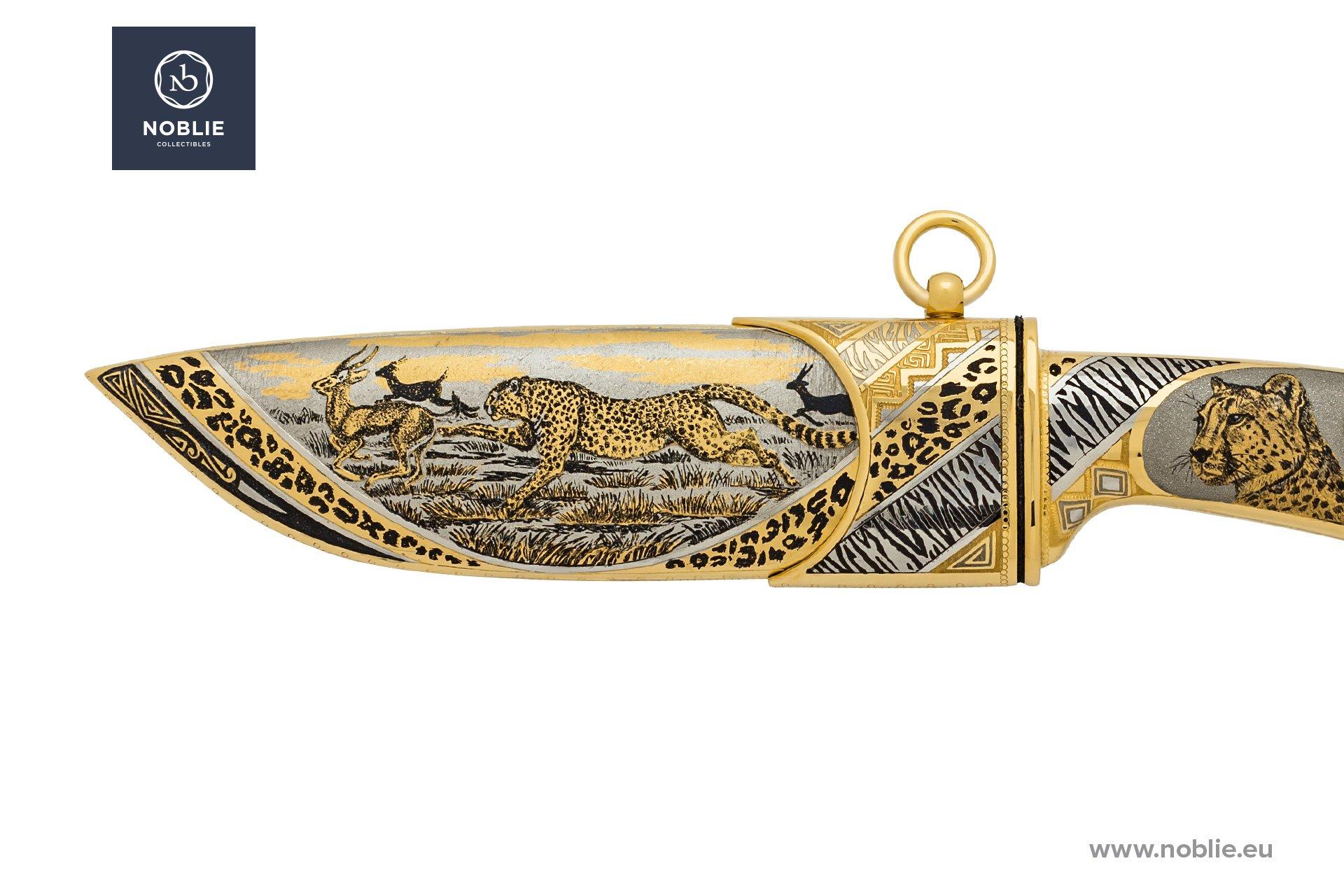 "art knife ""Acinonyx. Cheetah"""