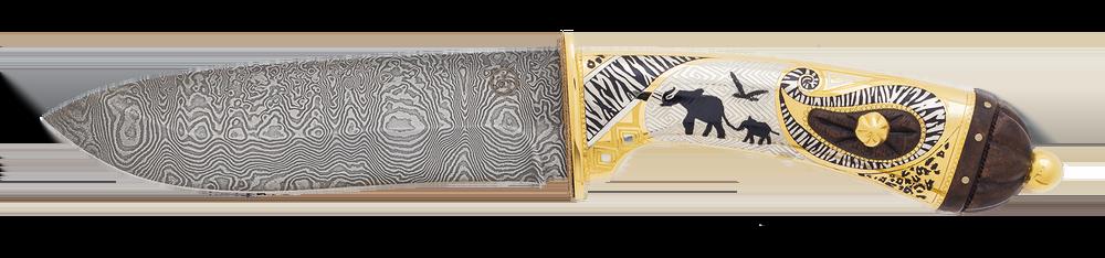 "handmade custom knife ""Loxodonta Africana. African elephant"""