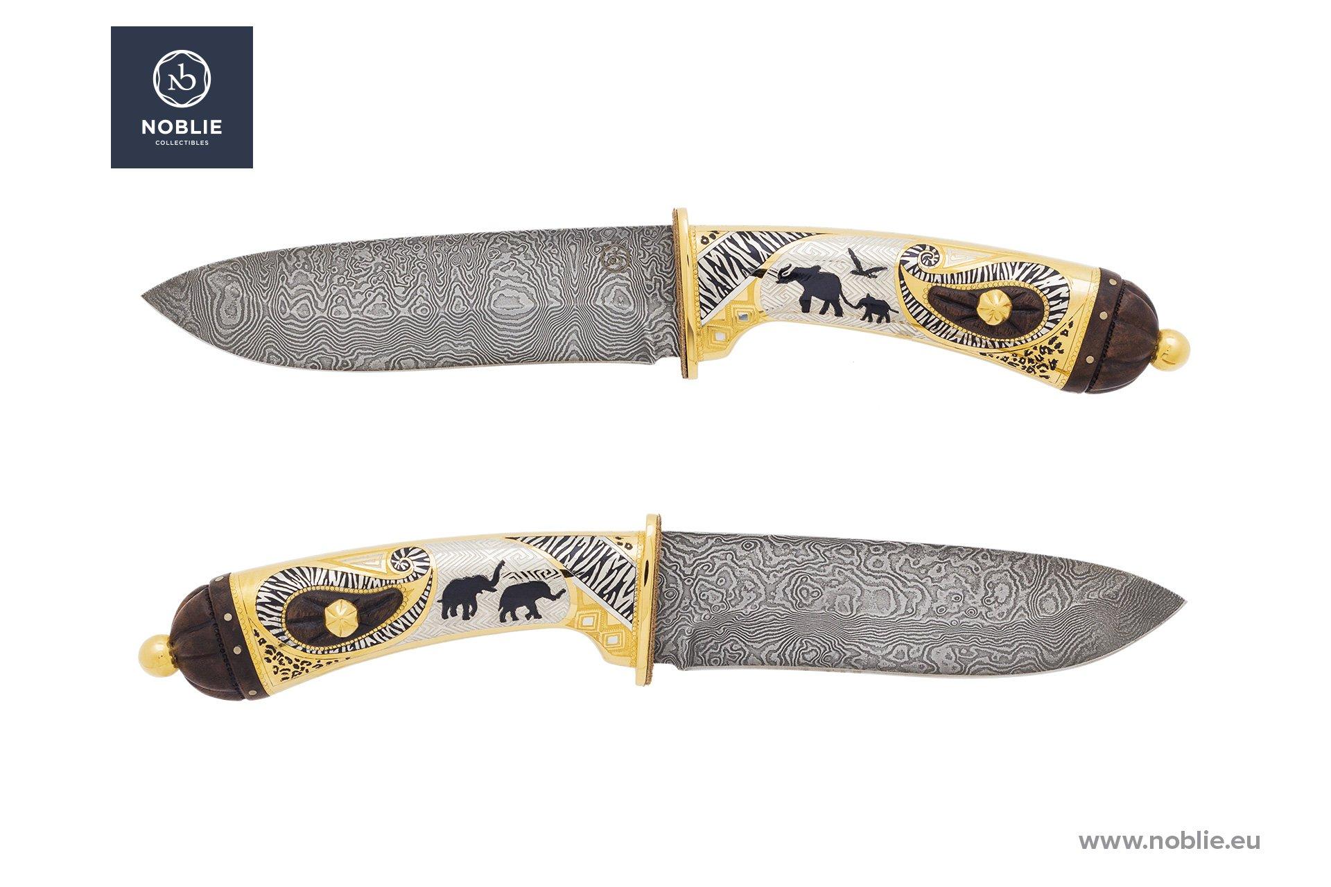 "custom knife ""Loxodonta Africana. African elephant"""