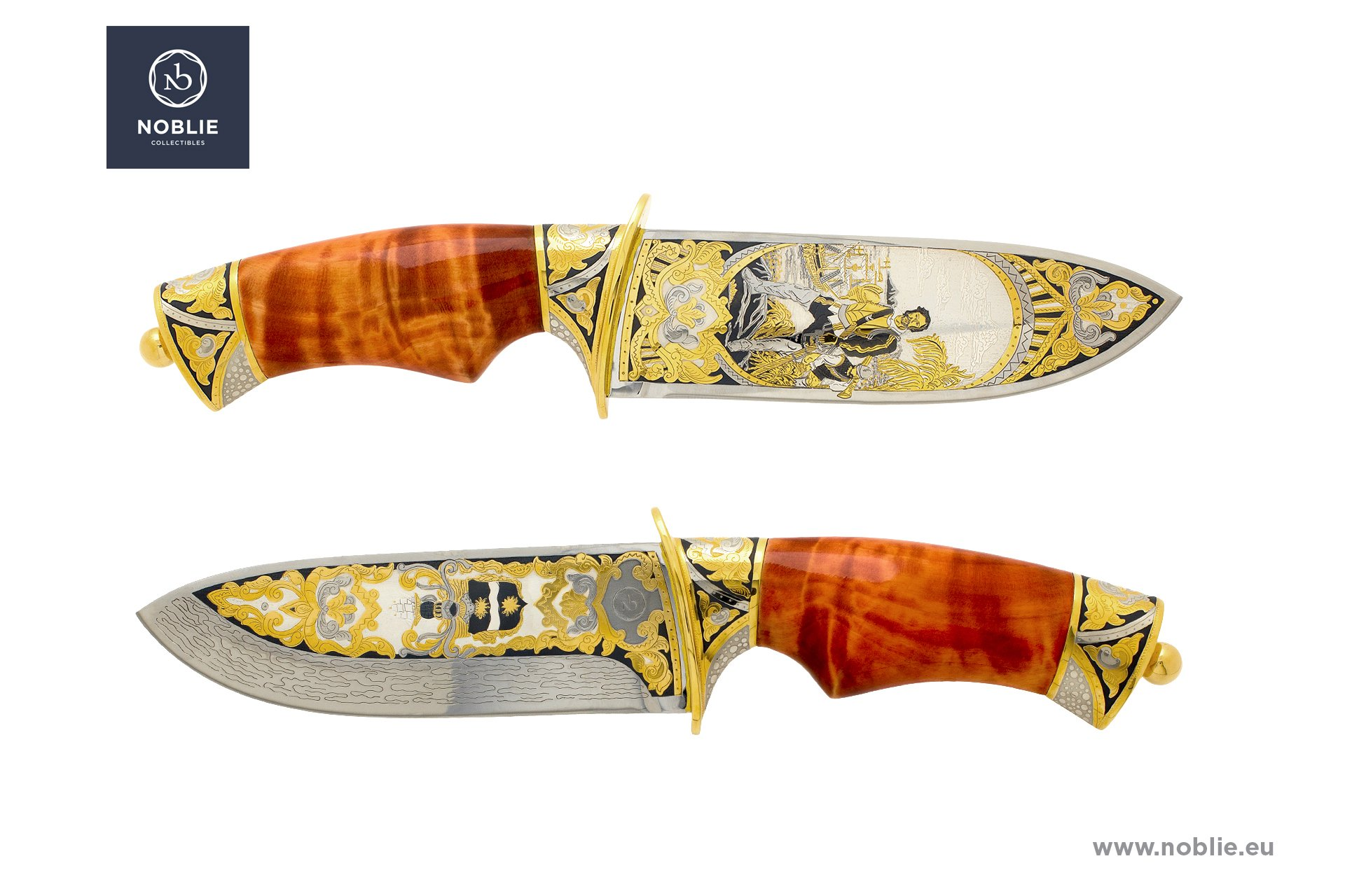 engraved knife ''Francis Drake''