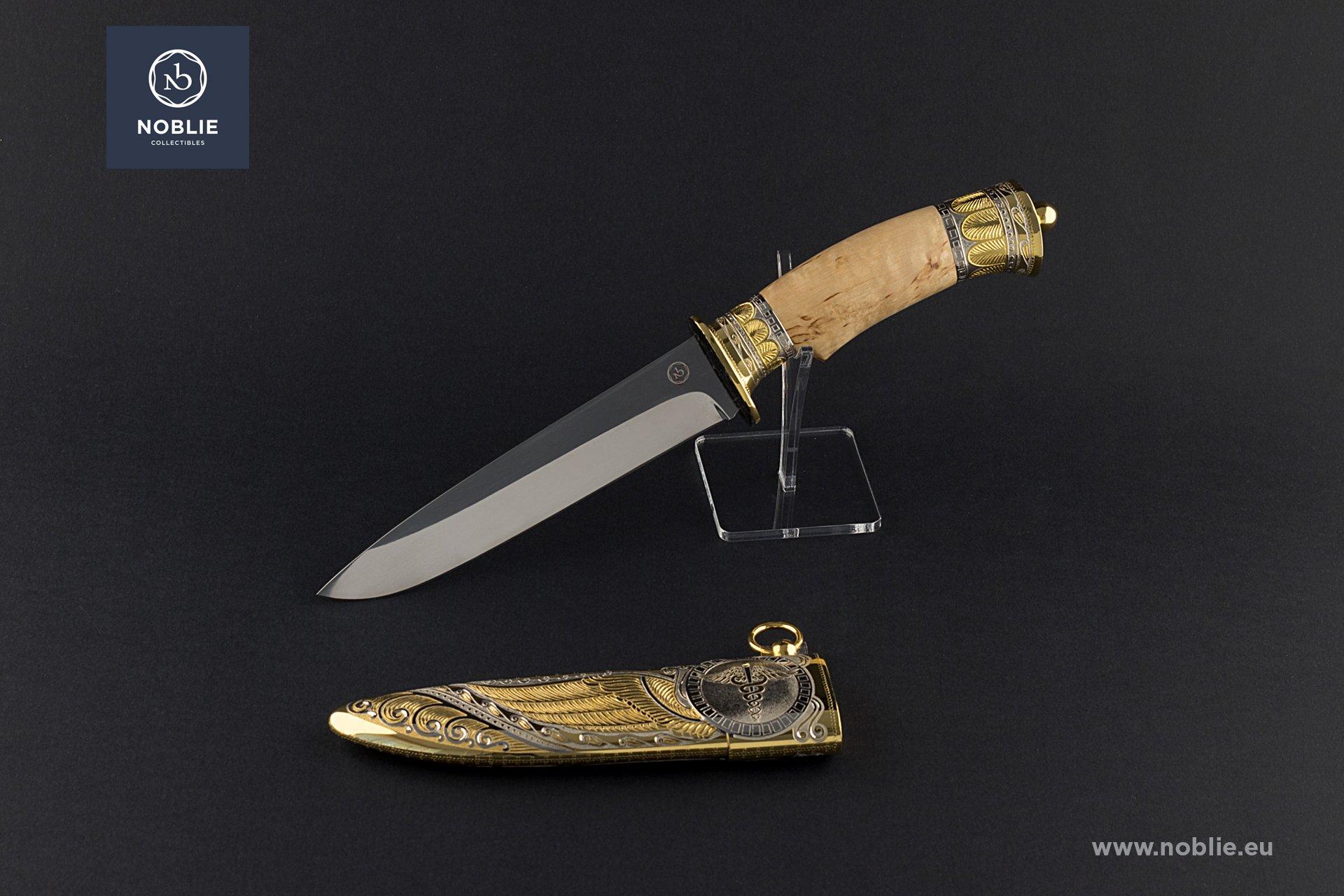 "engraved knife ""Hermes"""