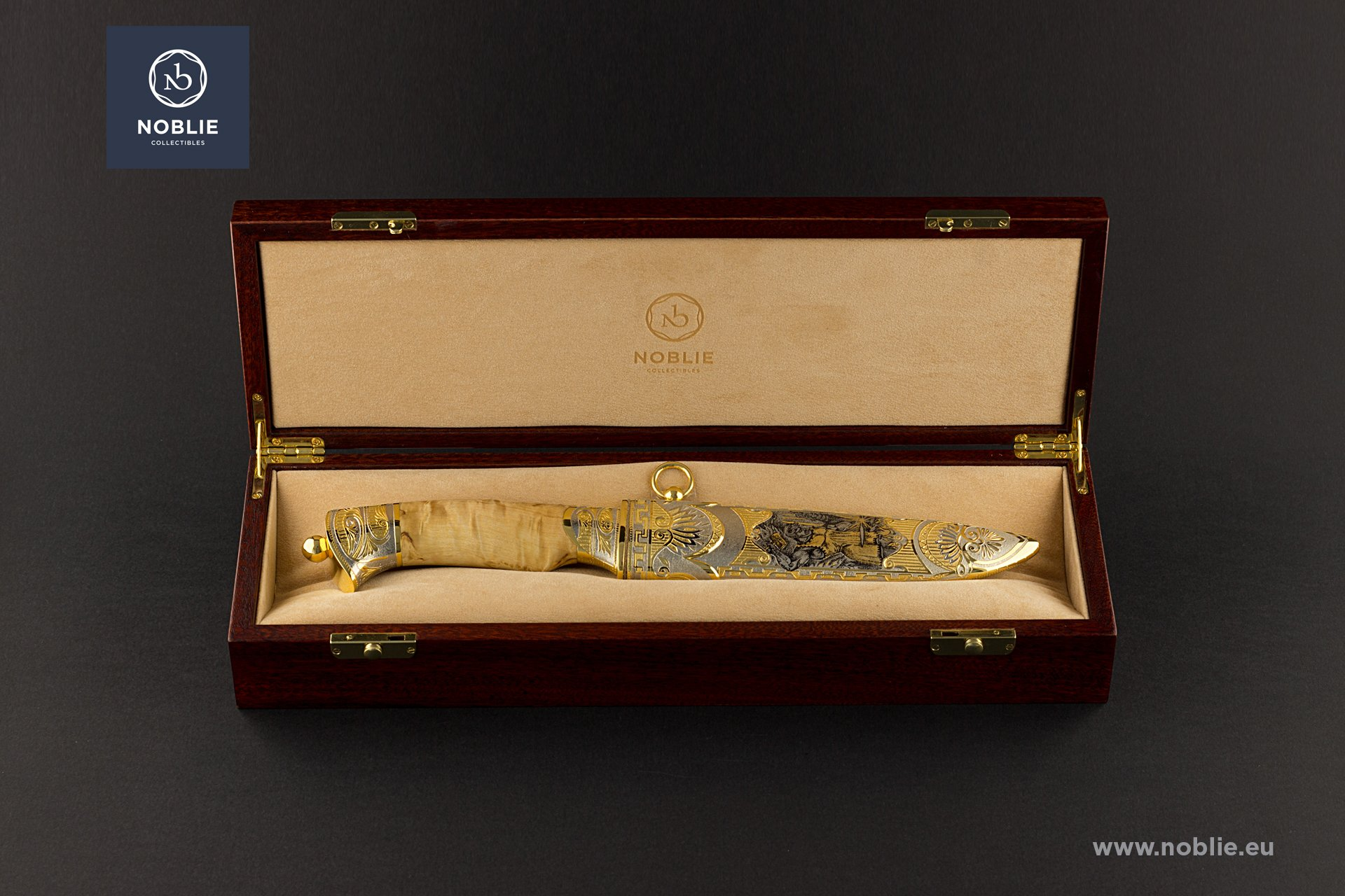 "engraved knife ""Hephaestus"""