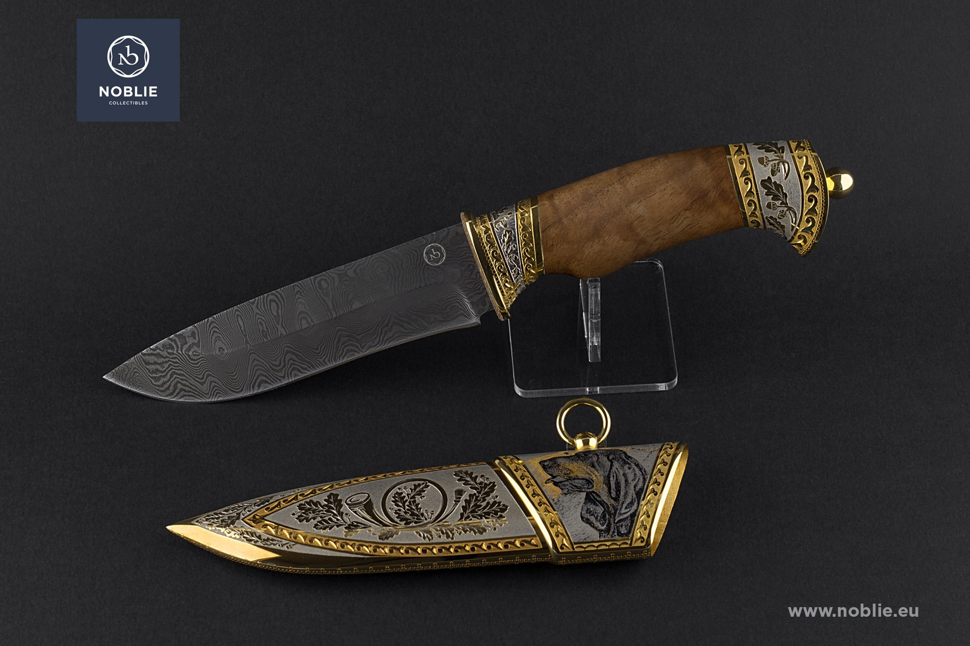 "engraved knife ""Coonhound"""