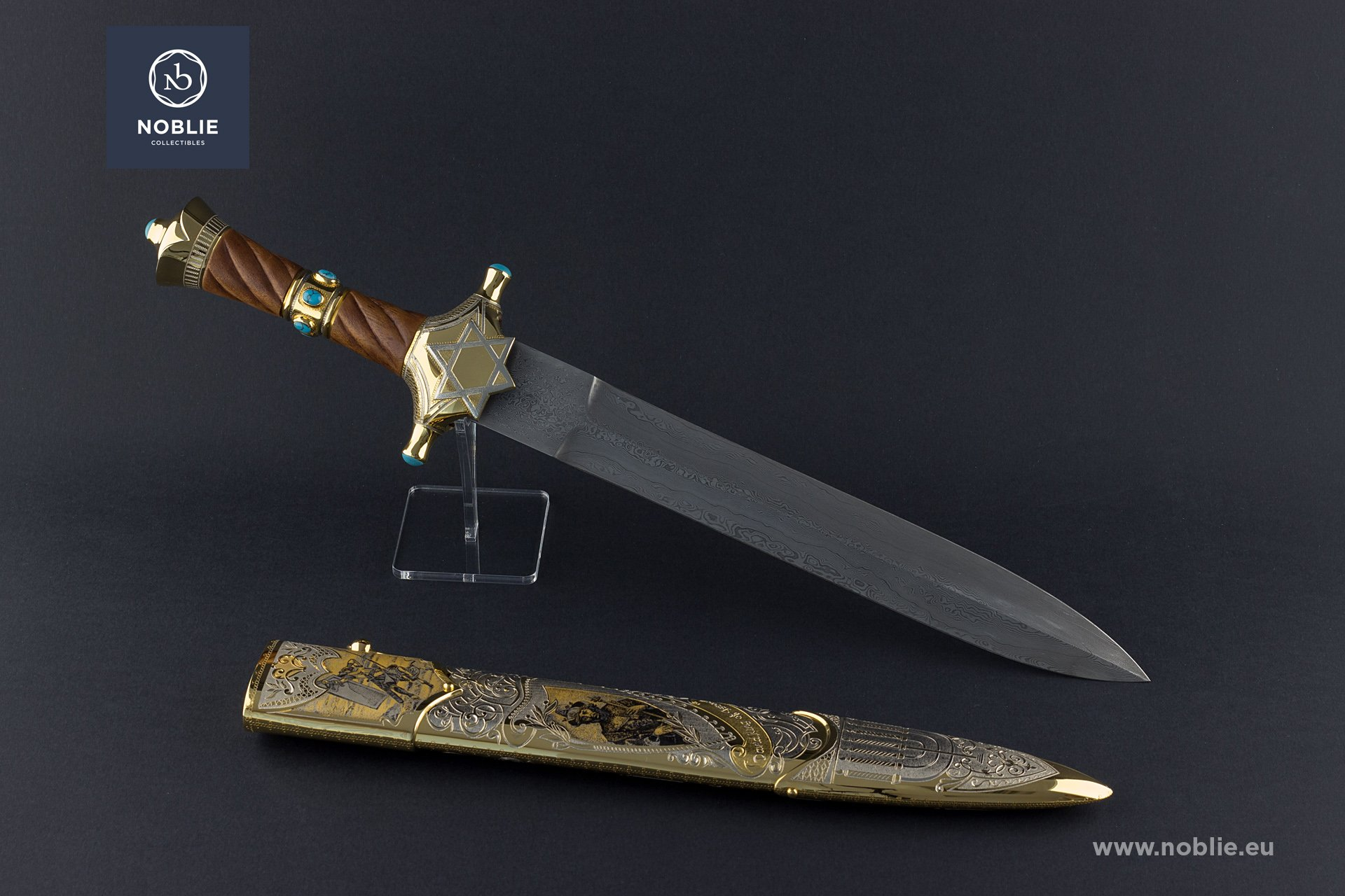 "engraved Dagger ""The beloved one. King David"""