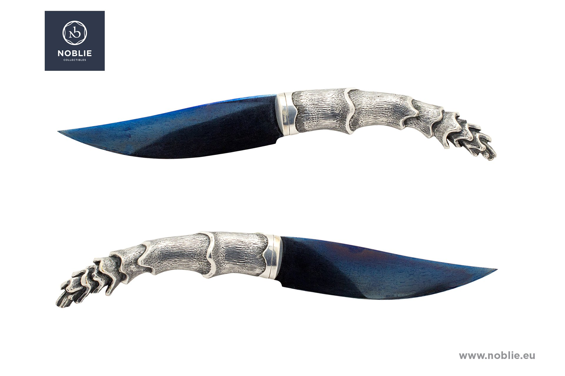 "custom knife composition ""Silver shellfish"""