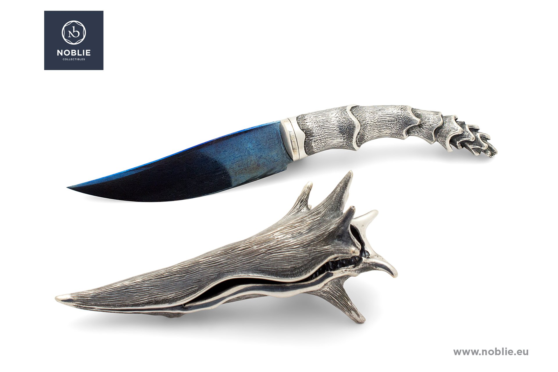 "hunting knife composition ""Silver shellfish"""