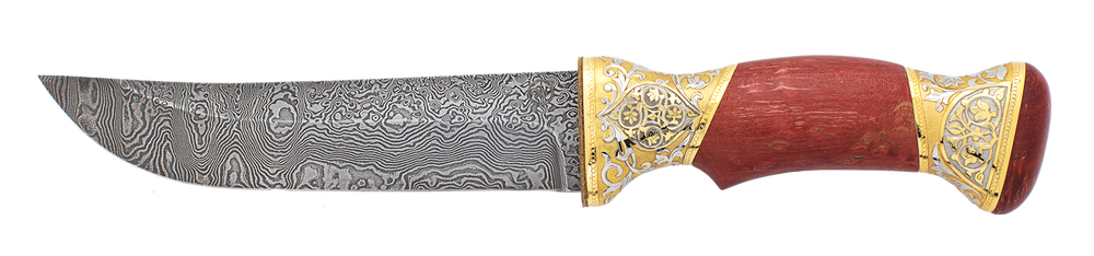 "damascus knife ""Eastern ornaments"""