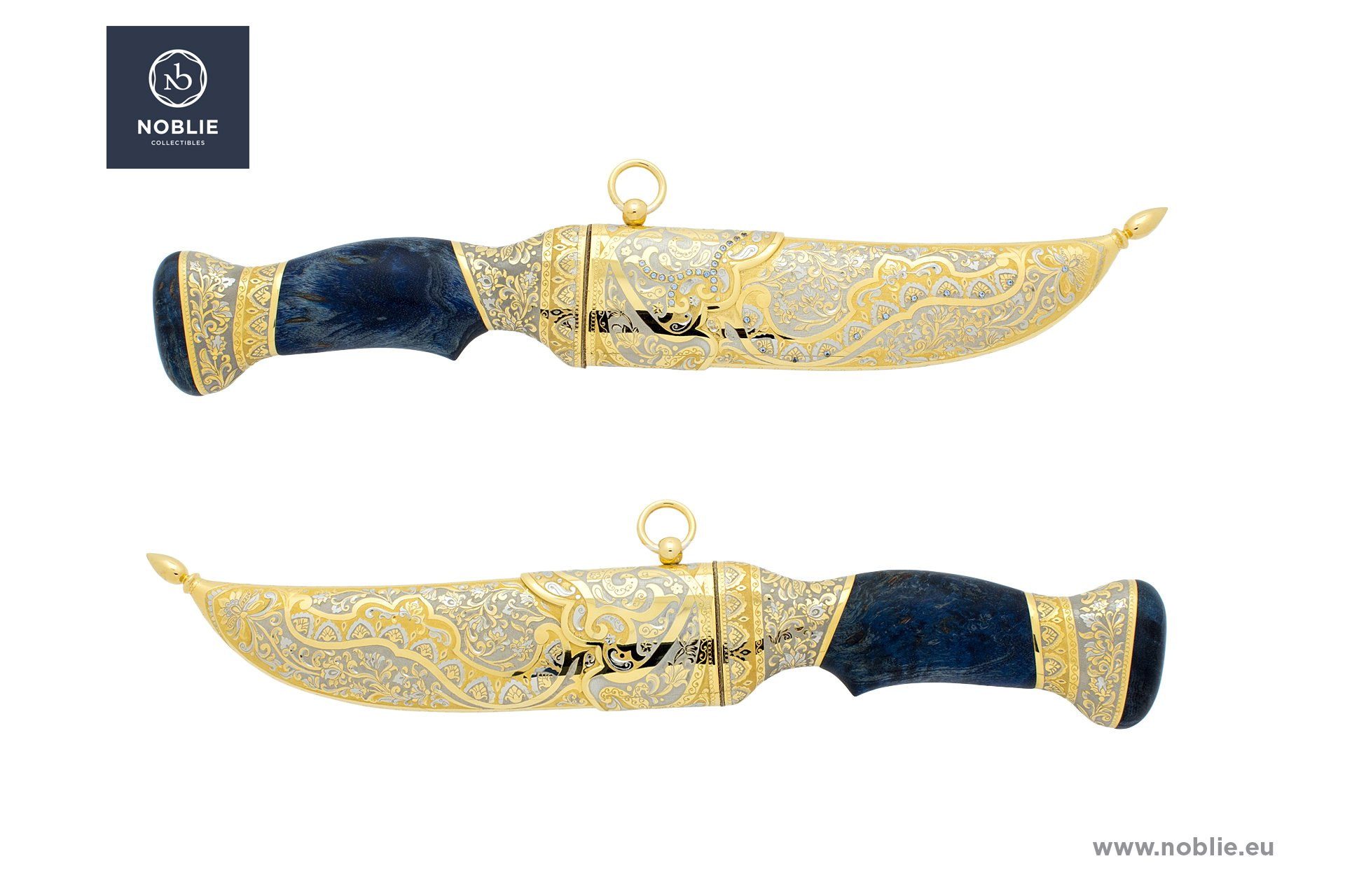 "damascus knife ""Indian ornaments"""