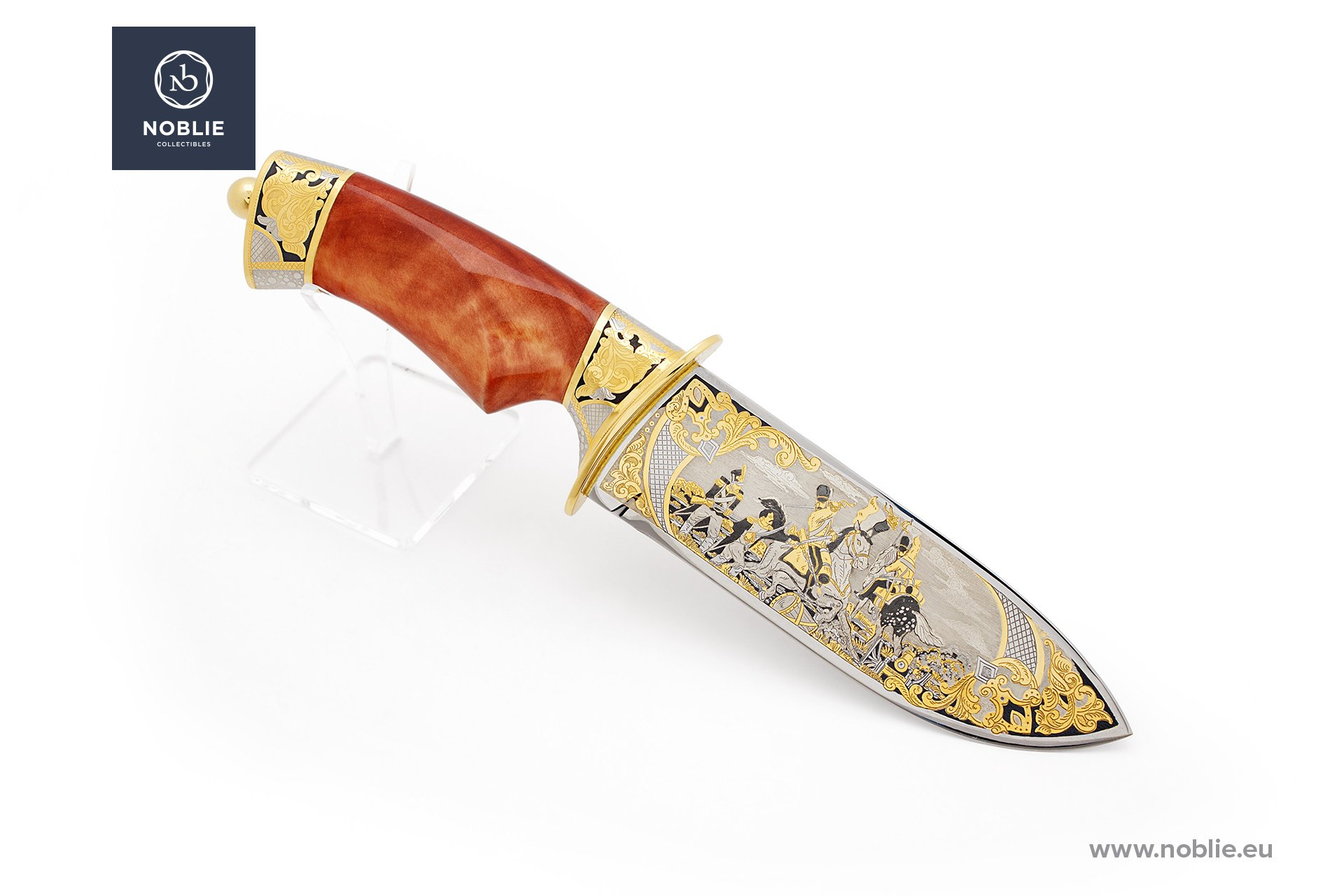 "handmade knife ""Battle of Waterloo"""