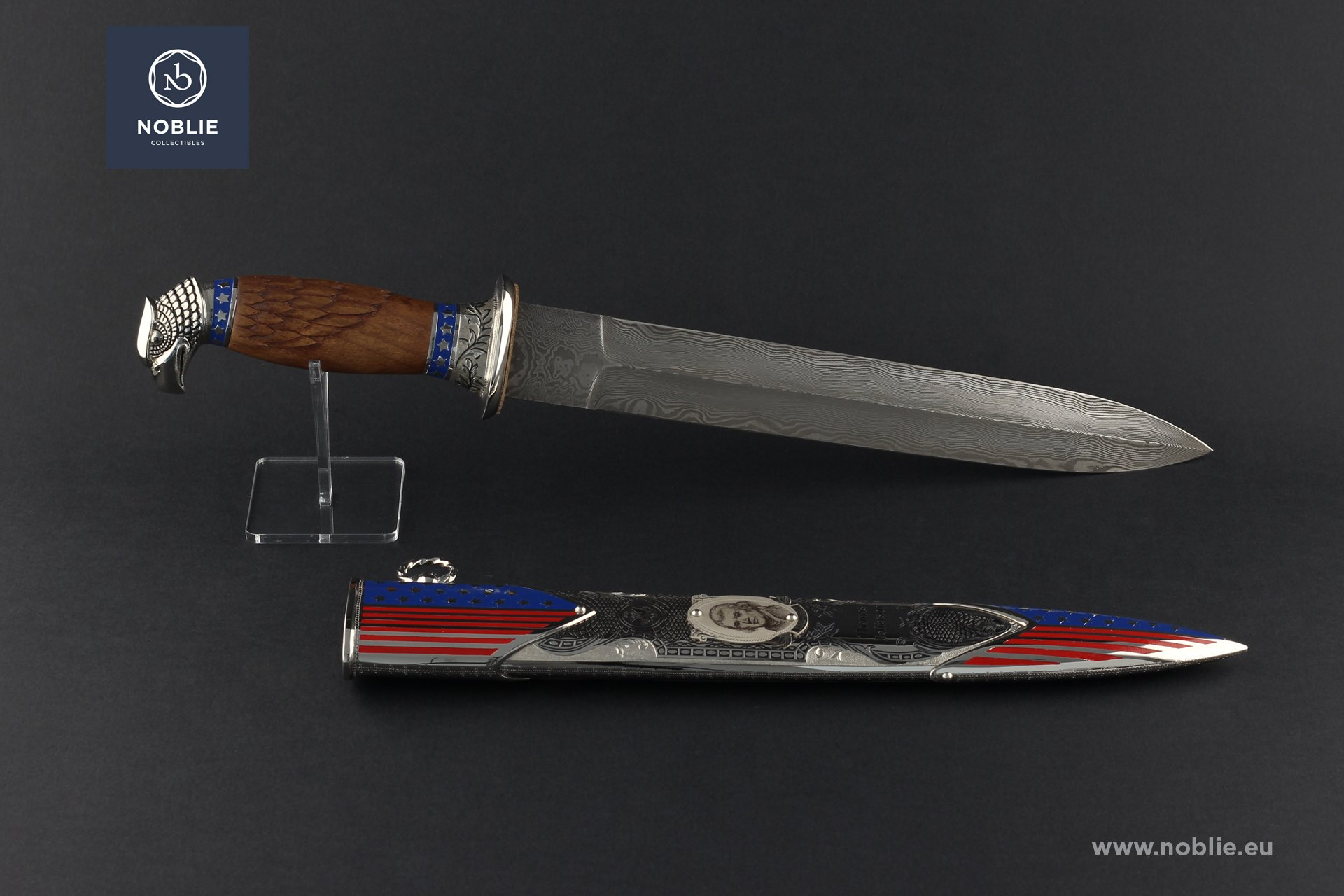 "damascus Dagger ""Thomas Jefferson"""