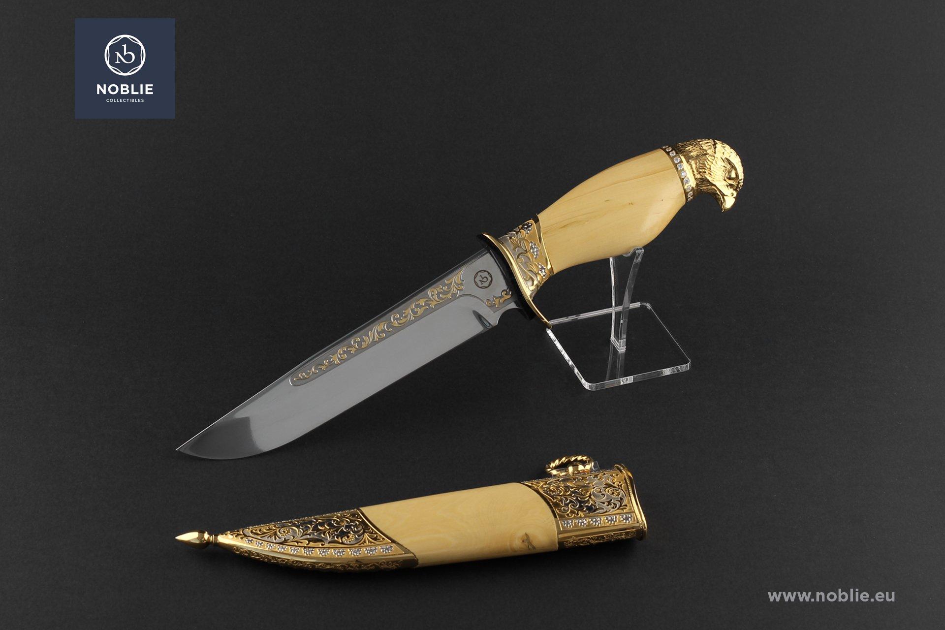 "handmade knife ""Danger from above. The eagle"""