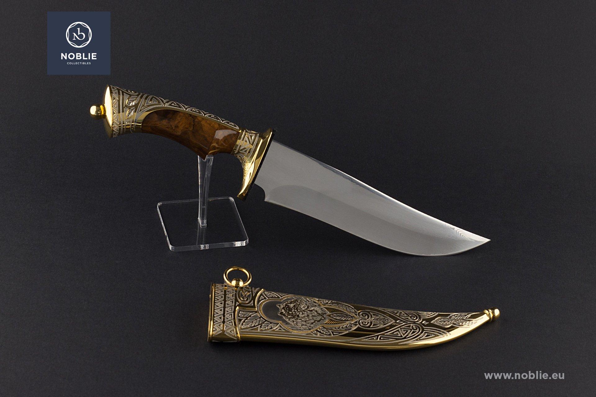 "handmade art knife ""The leopard hiding"""