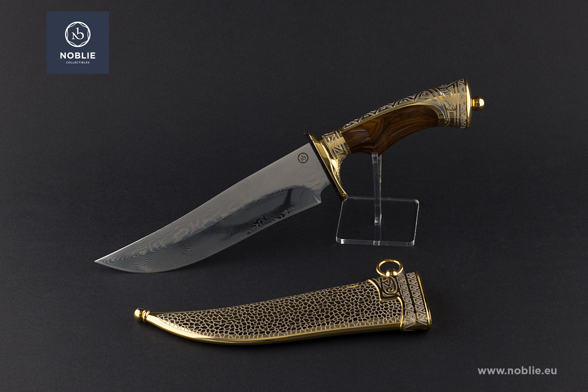 "damascus blade ""The leopard hiding"""