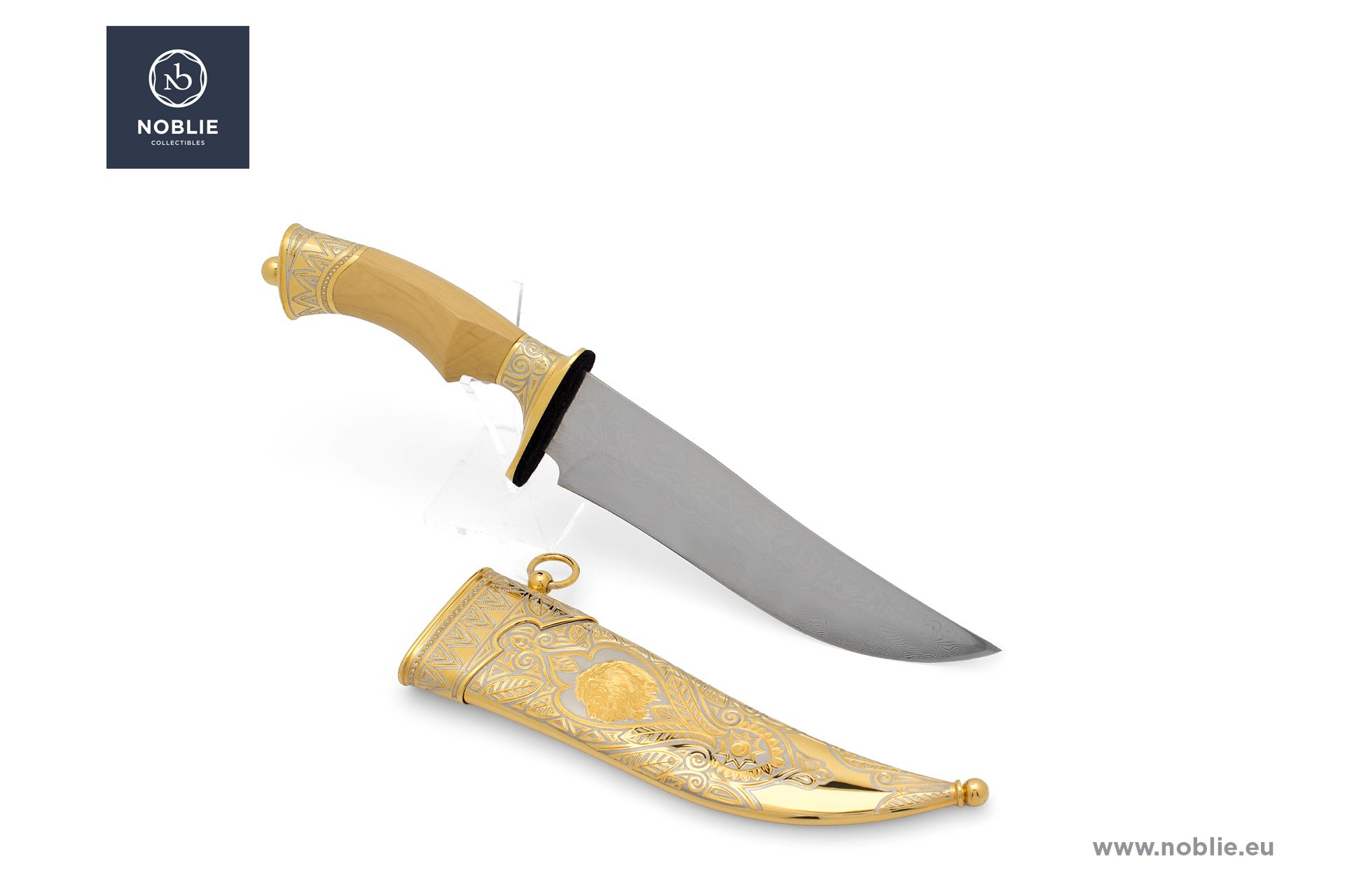 """handmade knife """"Kingly beast. The lion"""""""