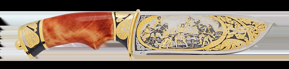 """Handmade custom knife """"The battle of Poltava"""""""