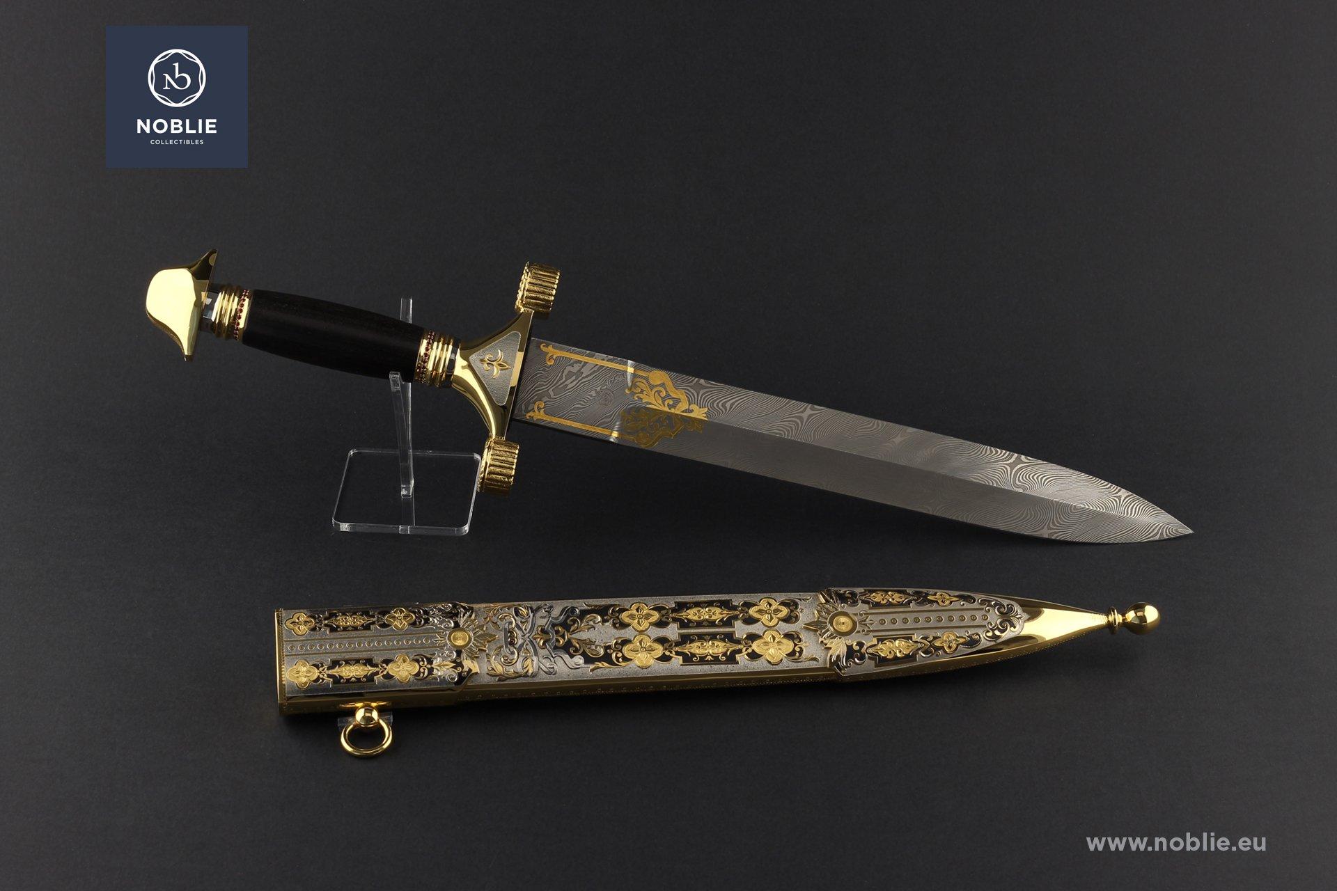 """damascus dagger """"Le Grand Emperuer. Napoleon Bonaparte"""""""