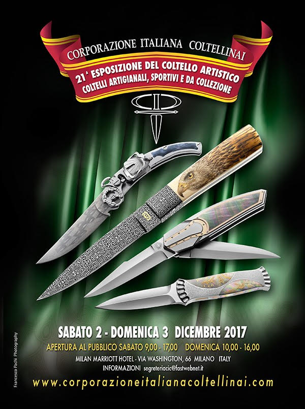 Custom knife show, Milan 2017