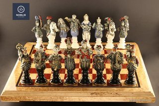 "Collectible porcelain chess ""The battle of Vienna"""