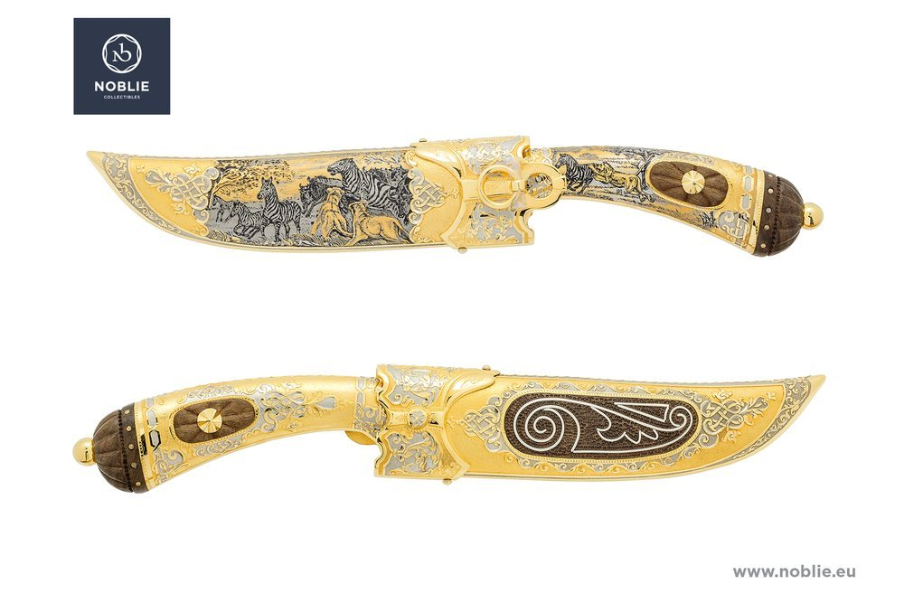 """Collectible knives for sale KNIFE """"HUNTING LIONS"""""""