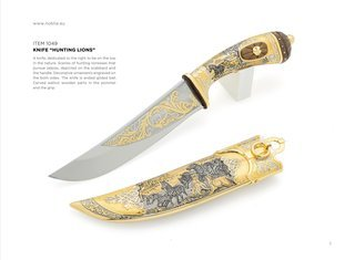 "Collectible knives for sale KNIFE ""HUNTING LIONS"""