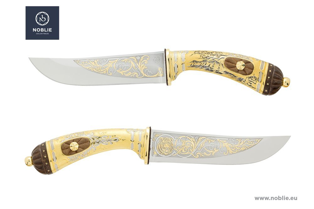 "Collectible knife ""The mighty master of Siberia. Tiger"""