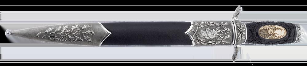 Damascus art dagger