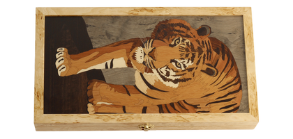 "Backgammon set ""Tiger faced"""