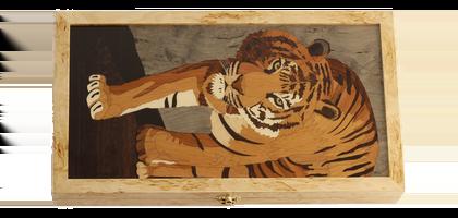 "Unique gift Backgammon set ""Tiger faced"""